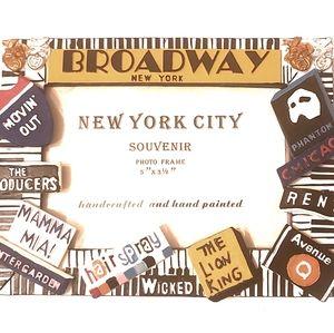 NWOT Broadway NY, NY Photo Frame